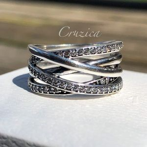 Pandora Entwined Ring Size 8.5